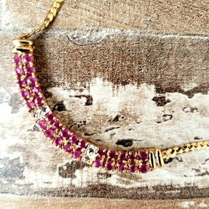 15 ct Ruby Diamond Necklace